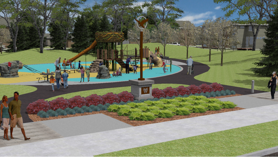 Up coming park in Wolf Willow